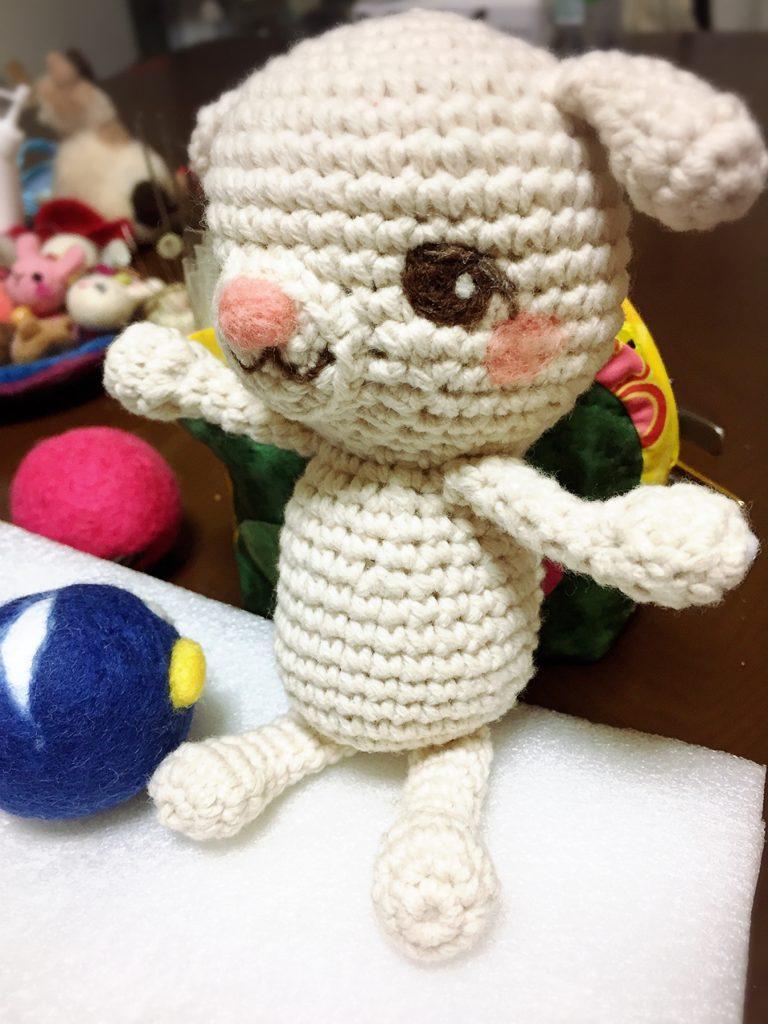 編みぐるみの、ひつじちゃん