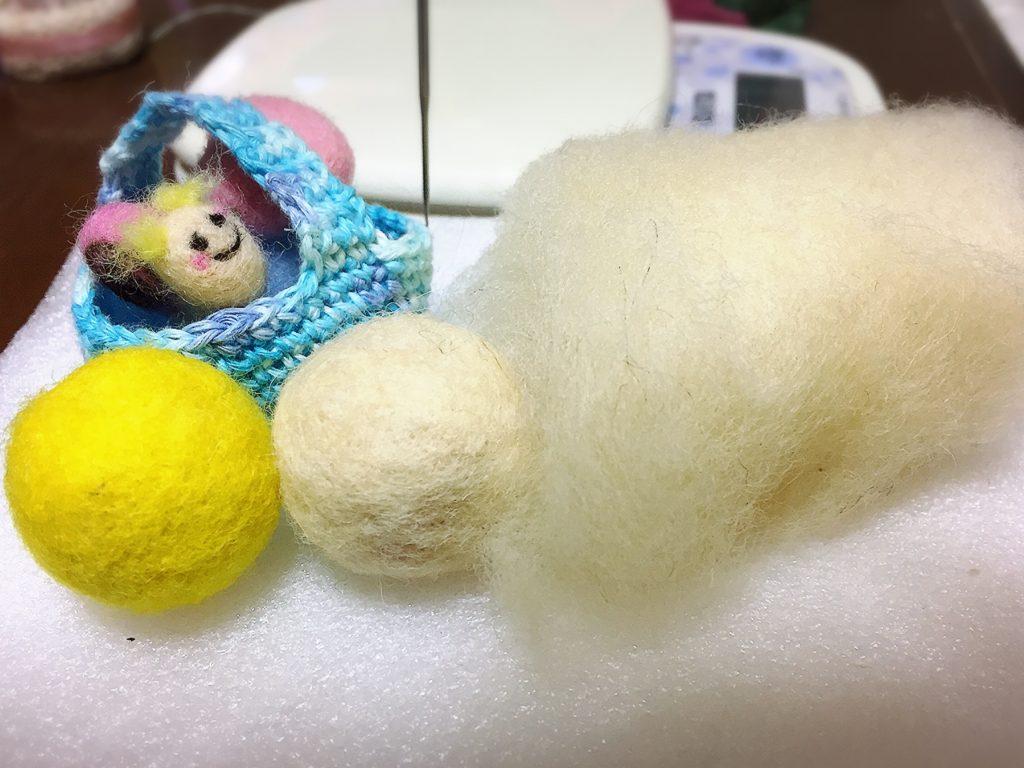 2グラムの羊毛