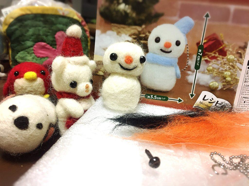 羊毛フェルトクリスマスキット スノーマン