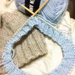 冬至にチクチク編み編み♪オーダーをいただいたニット帽と、スノーマン。