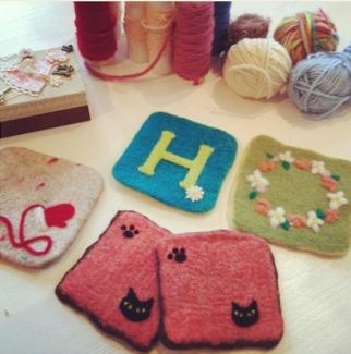 羊毛刺繍体験