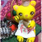 パン屋の招き猫。黄色の招き猫です。楽しい製作になった思い出。
