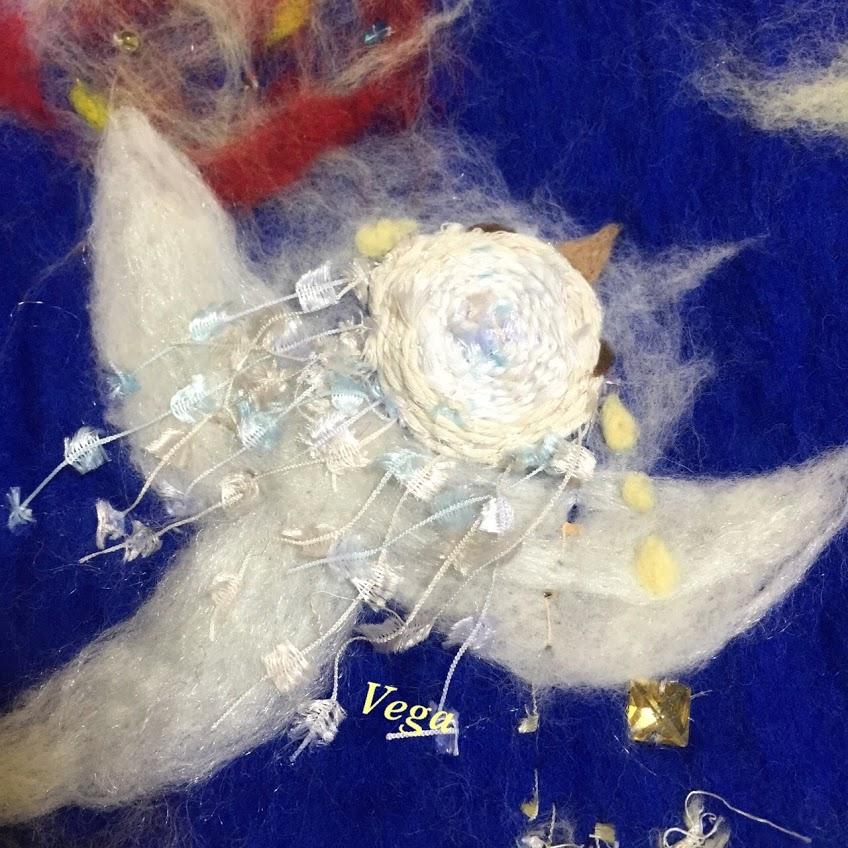 フェルトシート絵「よだかの星」