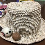 笹の糸の夏帽子が編めました。編み方を覚えて、次につなげたい。