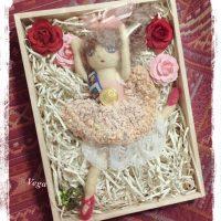 バレリーナ人形、イベント「絵本と雑貨の森の中」-作品番号75