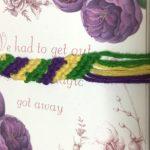 ミサンガの修行中です。いろいろな紐や糸で、たくさん作ってみたいです。