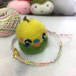 夏らしいグラデーションカラーの麻糸で修行中&石包みにチャレンジ。