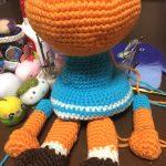 編みぐるみちゃんのパーツが完成しました。お目々をどうするかが、最大のハードルかも。