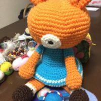 編みぐるみのうさぎちゃん