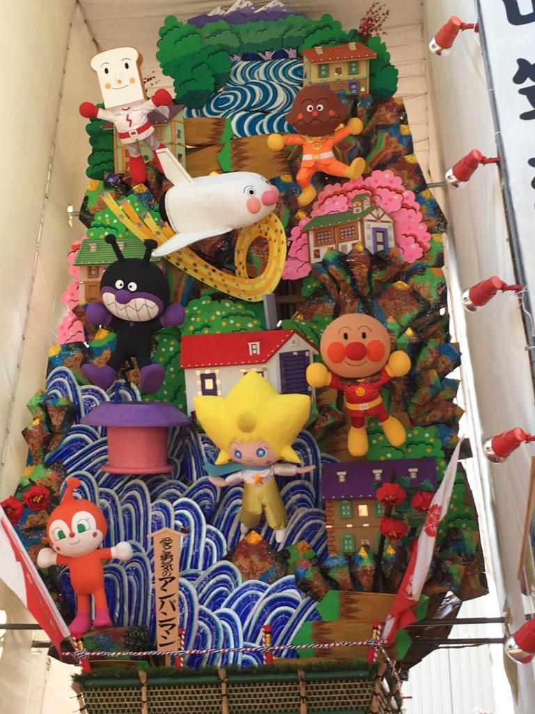 渡辺通りの飾り山 アンパンマン