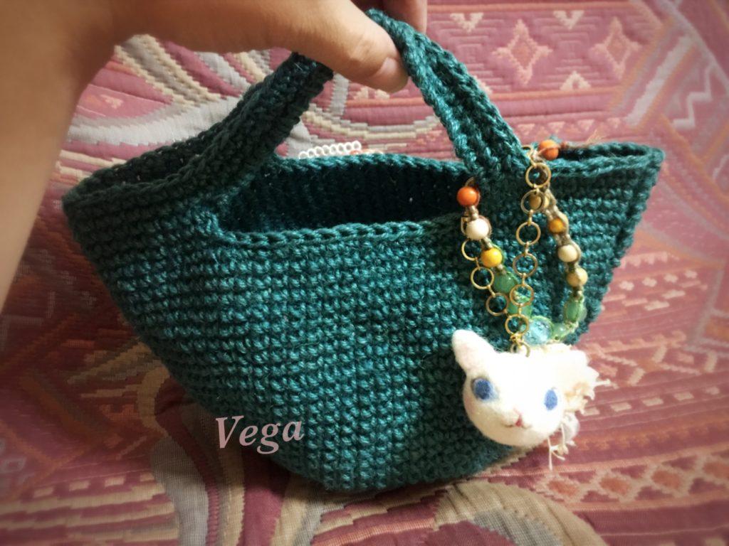 麻糸のミニマルシェバッグ