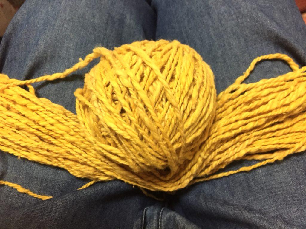 巻き巻き中のカセ糸
