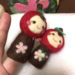 りんごのほっぺちゃんの指人形。指人形で遊べたら、楽しいでしょうね。