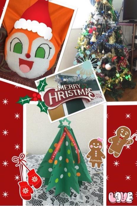 ドキンちゃんの被り物や、クリスマスツリー
