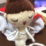 オーダーのお人形さん。体を形作っています。