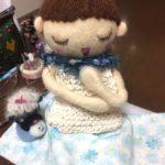 オーダーのお人形さん。お洋服を製作中です。