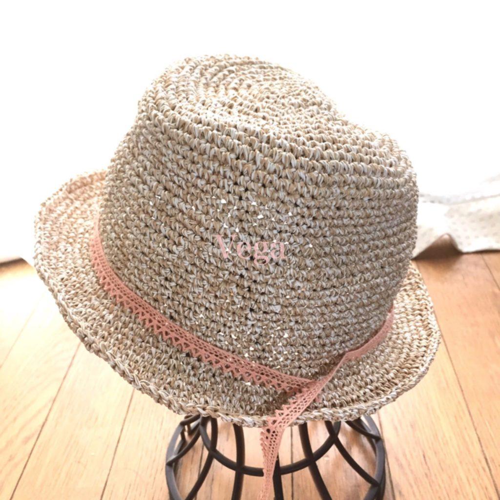 笹の糸を使った、夏帽子