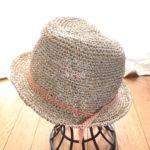 オーダー、夏帽子の糸を見つけました。熊笹から作られた糸なんです。