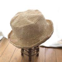 笹和紙の夏帽子