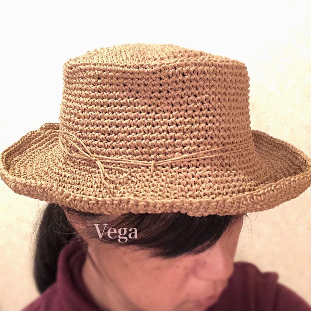 被ってみた、マイ夏帽子
