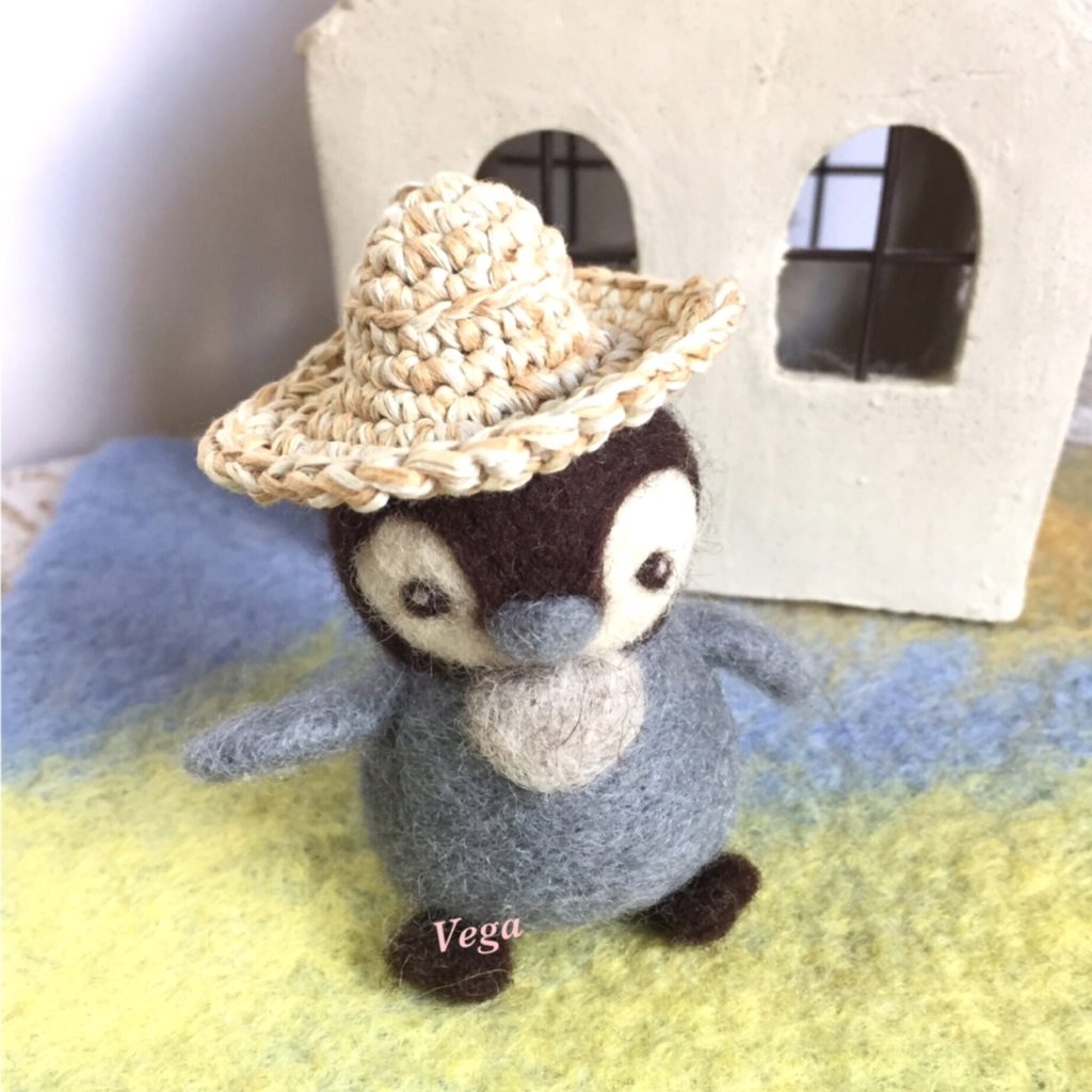 夏帽子バージョンの、ペンギンさん