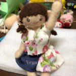 着せ替え人形の服を仮縫い。甚平→ブラウス?頑張ります(笑)