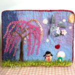 私の作品は、羊毛フェルトで製作した桜と仲間たち。ミニアチュールzero展は、今月15日から開催です。