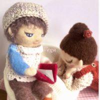羊毛フェルトのお人形さん