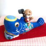 初めての鯉のぼり。わんぱくな柴犬の金太郎と共に。