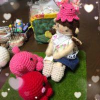 お人形さんが被った、メンダコ帽子